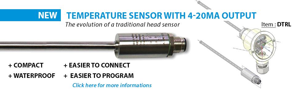 Sonde PT100 de température compacte