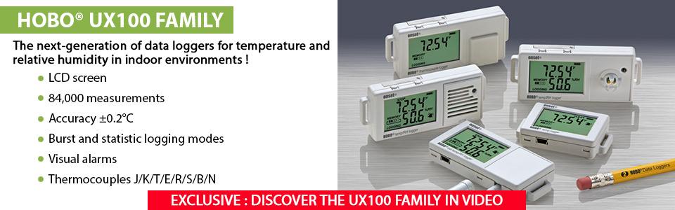Enregistreur de température Gamme HOBO UX100