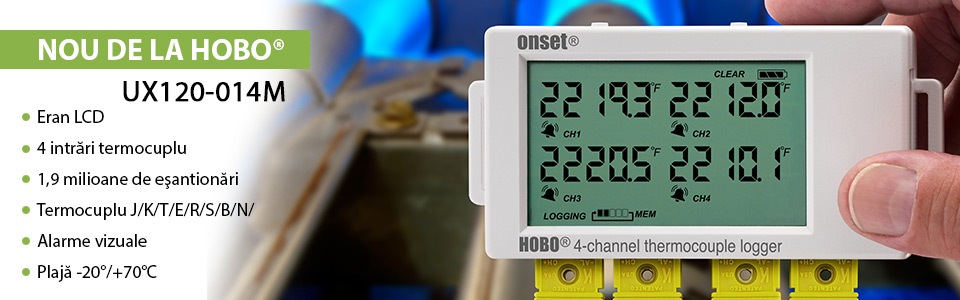 Enregistreur de données 4 voies thermocouples HOBO® UX120-014M