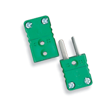 Miniature connector compensated thermocouple