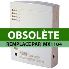 Enregistreur de température d'humidité et de luminosité, avec une entrée externe HOBO datalogger U12 Temp/RH/Light/ex