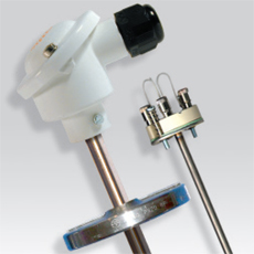 Platinum RTD (PT100) probe with metal protection Ø 13,5 mm, attach fixing and measurement insert