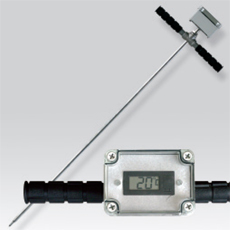 Platinum RTD (PT100) probe for compost and grain with indicator
