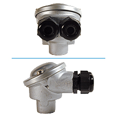 Standard head of connection B with 2 aluminium alloy glandses
