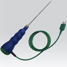 Thermocouple probe Type K to insert with side output of cable SPSLV-130