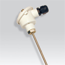 Probe smooth thermocouple with head of connection of the type B