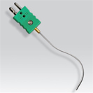 Probe collapsible thermocouple lined with plug standard connector