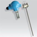Platinum RTD (PT100) probe with     , and measurement insert atex certifed