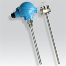 Platinum RTD (PT100) probe screw-in with measurement insert, atex certifed
