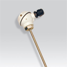 Platinum RTD (PT100) probe smooth with head of connection of the type MA (miniature)