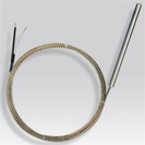 Probe thermocouple with connecting cable silk of glass/silk of glass/braid stainless