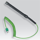 Probe thermocouple K of surface with spiral cable for portable numerical thermometer
