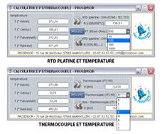 logiciel de conversion CALCULATEUR PT-TC à télécharger (gratuit)